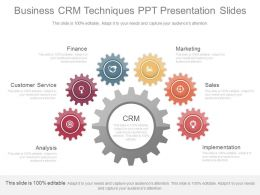 App Business Crm Techniques Ppt Presentation Slides