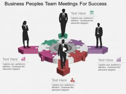 app Business Peoples Team Meetings For Success Flat Powerpoint Design
