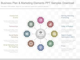 App Business Plan And Marketing Elements Ppt Samples Download
