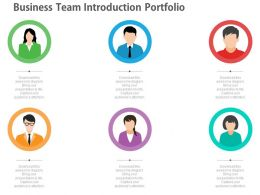 app Business Team Introduction Portfolio Diagram Flat Powerpoint Design