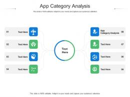 App Category Analysis Ppt Powerpoint Presentation Professional Graphics Cpb