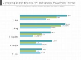 App Comparing Search Engines Ppt Background Powerpoint Themes