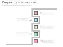 app Corporation Sales Process Design Flat Powerpoint Design