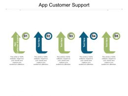 App Customer Support Ppt Powerpoint Presentation Ideas Template Cpb