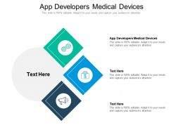 App Developers Medical Devices Ppt Powerpoint Presentation Outline Maker Cpb