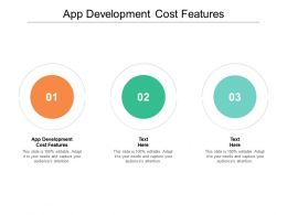 App Development Cost Features Ppt Powerpoint Presentation Summary Cpb
