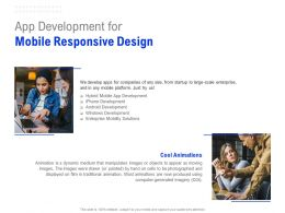 App Development For Mobile Responsive Design Ppt Powerpoint Presentation Model Template
