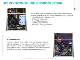 App Development For Responsive Design Ppt Powerpoint Presentation Graphics
