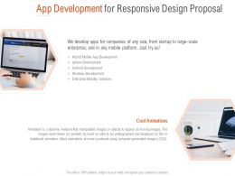 App Development For Responsive Design Proposal Ppt Powerpoint Outline
