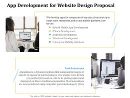 App Development For Website Design Proposal Ppt Powerpoint Presentation Summary