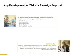 App Development For Website Redesign Proposal Ppt Powerpoint Presentation Summary