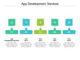 App Development Services Ppt Powerpoint Presentation Model Deck Cpb