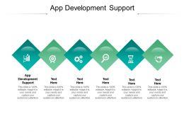 App Development Support Ppt Powerpoint Presentation Visual Aids Files Cpb