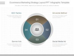 App Ecommerce Marketing Strategy Layout Ppt Infographic Template