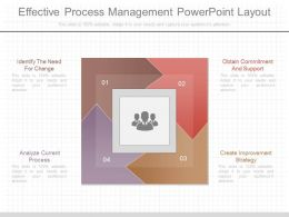 App Effective Process Management Powerpoint Layout