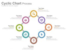 app Eight Staged Cyclic Chart For Business Process Flat Powerpoint Design