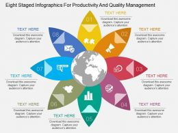 app Eight Staged Infographics For Productivity And Quality Management Flat Powerpoint Design