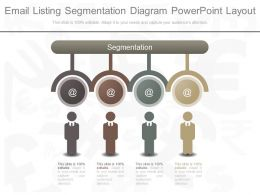 App Email Listing Segmentation Diagram Powerpoint Layout