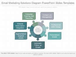 App Email Marketing Solutions Diagram Powerpoint Slides Templates