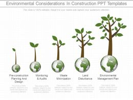 App Environmental Considerations In Construction Ppt Templates