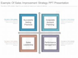 App Example Of Sales Improvement Strategy Ppt Presentation