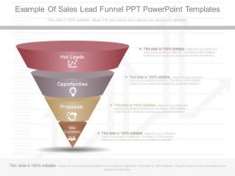 App Example Of Sales Lead Funnel Ppt Powerpoint Templates
