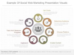 App Example Of Social Web Marketing Presentation Visuals