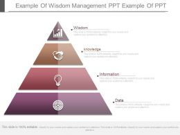 App Example Of Wisdom Management Ppt Example Of Ppt