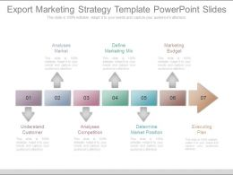 App Export Marketing Strategy Template Powerpoint Slides