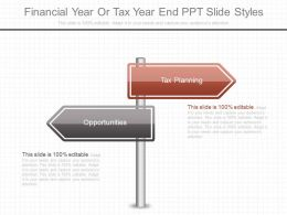 App Financial Year Or Tax Year End Ppt Slide Styles