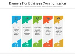 app Five Banners For Business Communication Flat Powerpoint Design