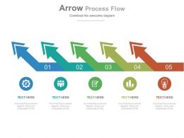 app Five Staged Arrows Process Flow Diagram Flat Powerpoint Design