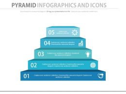 app Five Staged Pyramid Infographics And Icons Flat Powerpoint Design