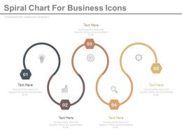 app Five Staged Spiral Chart For Business Icons Flat Powerpoint Design