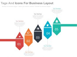 app Five Staged Tags And Icons For Business Layout Flat Powerpoint Design