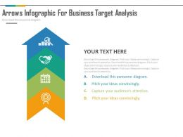 app Four Staged Arrow Infographics For Business Target Analysis Flat Powerpoint Design