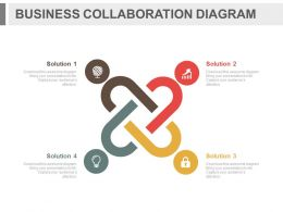app Four Staged Business Collaboration Diagram Flat Powerpoint Design