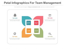 app Four Staged Petal Infographics For Team Management Flat Powerpoint Design