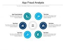 App Fraud Analysis Ppt Powerpoint Presentation Outline Slides Cpb