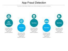 App Fraud Detection Ppt Powerpoint Presentation Infographics Elements Cpb