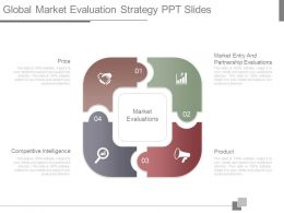 App Global Market Evaluation Strategy Ppt Slides