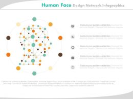 app Human Face Design Network Infographics Flat Powerpoint Design