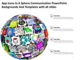 App Icons In A Sphere Communication Powerpoint And Templates With All Slides Powerpoint