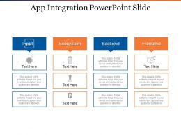 App Integration Powerpoint Slide