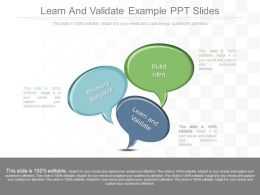 App Learn And Validate Example Ppt Slides