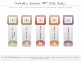 App Marketing Analysis Ppt Slide Design
