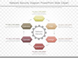 App Network Security Diagram Powerpoint Slide Clipart