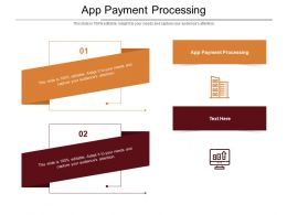App Payment Processing Ppt Powerpoint Presentation Slides Download Cpb