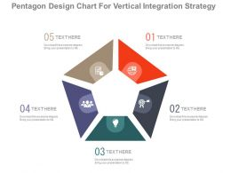 app Pentagon Design Chart For Vertical Integration Strategy Flat Powerpoint Design