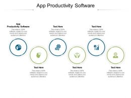 App Productivity Software Ppt Powerpoint Presentation Icon Diagrams Cpb